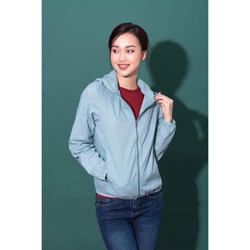 Áo gió nữ 2 lớp cực đẹp(ảnh thật 100%,kèm túi đựng) - Hàng loại 1
