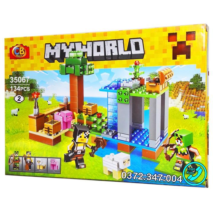 Bộ Lego Xếp hình Ninjago Minecraf My World Xây Dựng Nông Trại. Gồm 134 chi tiết. Lego Ninjago Lắp Ráp...