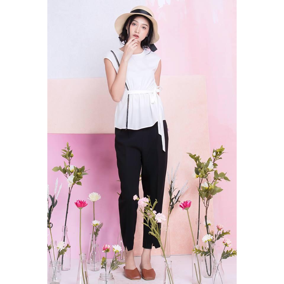 áo vải đũi thái vai chờm chun eo - MS: 140588