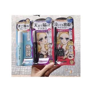 Set 3 sản phẩm eyeliner +tẩy trang+mascara kiss me