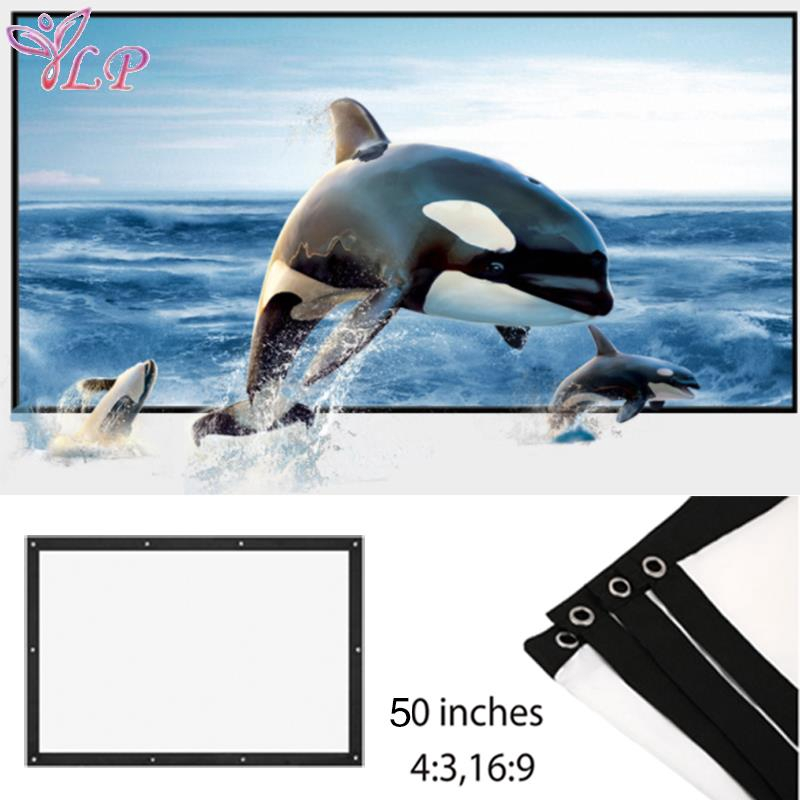 LP Folded Projection Screen Movie Screen Home Theater Projector Cloth Screen 16:9/4:3 Giá chỉ 64.800₫