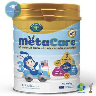 Sữa bột Nutricare Metacare 3 Mới - phát triển toàn diện cho trẻ 1-3 tuổi (400g)