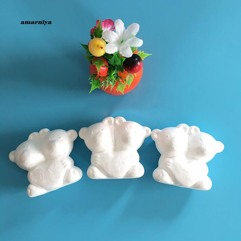 AMA♥2Pcs Foam Animal Double Bear DIY Crafts Christmas Party Wedding Decoration Gift