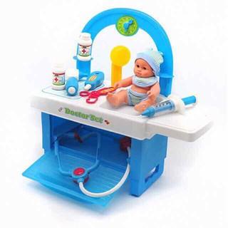 Đồ chơi hoá trang thành bác sĩ kèm búp bê sơ sinh