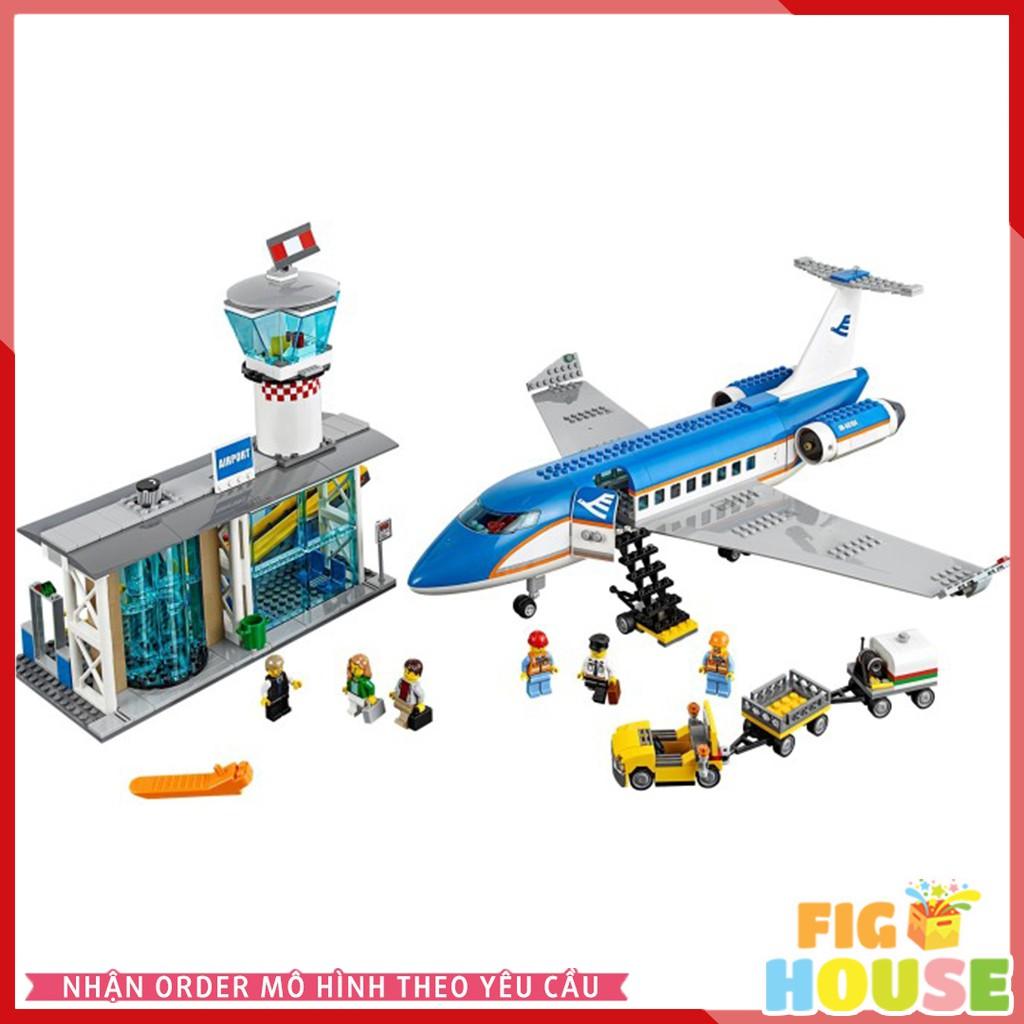Lắp Ráp LEPIN 02043 Sân Bay Quốc Tế 718pcs - City 60104 Airport Passenger Terminal