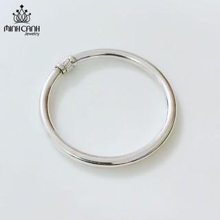 Lắc Bạc Dạng Tròn Trơn Cho Trẻ Em - Minh Canh Jewelry