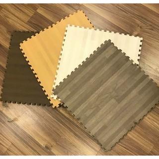 [Hàng Xuất Nhật] Thảm Trải Sàn ❤️ Thảm Xốp Trải Sàn Vân Gỗ 60×60 Không Mùi, Không Thấm Nước