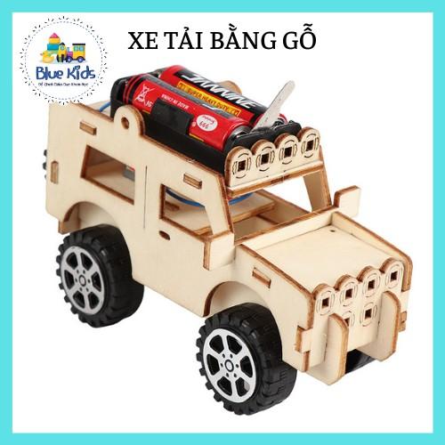 Đồ chơi khoa học STEAM tự làm xe tải bằng gỗ, kích thích sáng tạo và phát triển trí tuệ cho bé