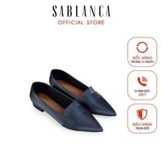 [Mã FAMALLT5 giảm 15% đơn 150k] Giày búp bê Sablanca mũi nhọn đơn giản cao 2cm 5050BB0057