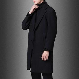 [Ảnh thật] Áo Khoác Dạ Dài Hàn Quốc Áo Măng Tô Nam Thời Trang Nam Thanh Lịch Màu Đen AKD05