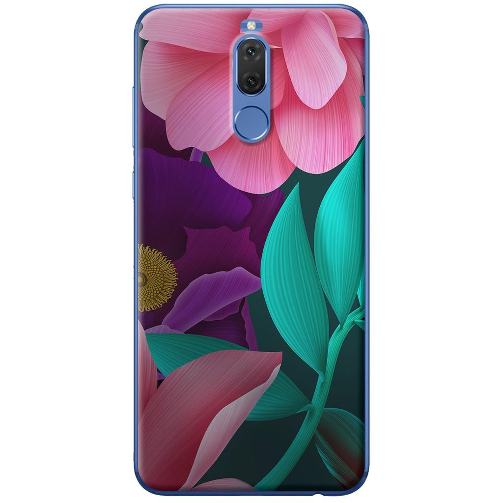 Ốp lưng nhựa dẻo Huawei Nova 2i Hoa xanh hồng nghệ thuật
