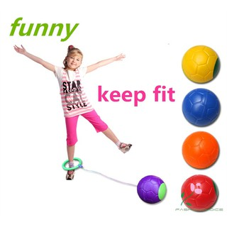 Jumpball Funny One Foot Skip Ball Jump Ball Foot Hula Hoop Skipping Rope Bouncing Ball Toy Educational Outdoor Toys Chil