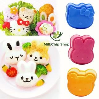 Bộ 3 khuôn cơm bento ép cơm hình thỏ gấu mèo kitty cho bé thumbnail