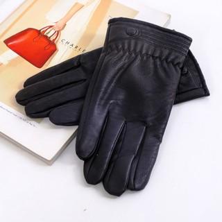Găng tay nam da tổng hợp cao cấp DaH2 GT0002 đen
