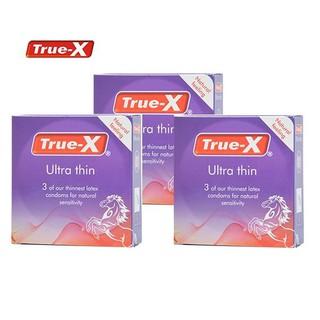 Bộ 3 hộp bao cao su True-x ULTRA THIN siêu mỏng hộp 3c thumbnail