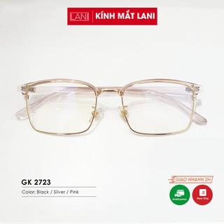 Gọng Kính Cận Vuông nam nữ Vintage nhựa dẻo phụ kiện thời trang Lani 770 - Lắp Mắt Cận Theo Yêu Cầu thumbnail