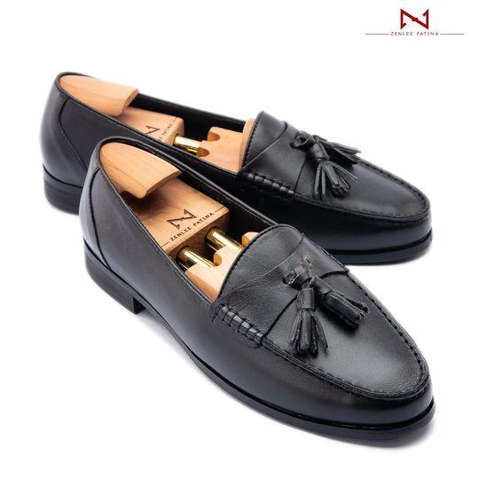 Giày Âu Thủ Công Zenlee patina - Mã:LTC01-BL