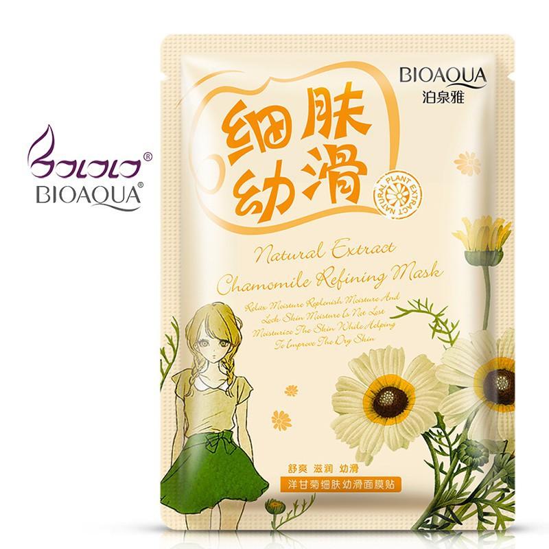 [Nhập CB1709 giảm 5K đơn 55K] Mặt nạ bioaqua chiết xuất hoa cúc dưỡng ẩm/ làm sáng da hiệu quả