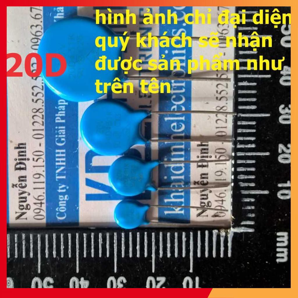 [ƯU ĐÃI] TỤ CHỐNG SÉT, VARISTOR 20D 20mm (gói 10 con) kde0835