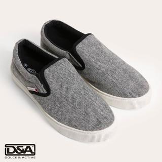 D&A giày slipon nữ thời trang L1507 ghi - xanh
