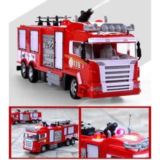 Xe cứu hỏa điều khiển phun được nước đồ chơi trẻ em