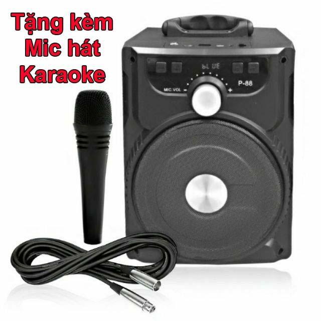 Loa Bluetooth xách tay hát karaoke P88 P89 có tặng kèm Micro athuc.3t