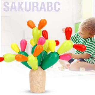 Sakurabc Balancing Cactus Toy Assembled Building Blocks Tree Early Educational Toys and Gifts for Children