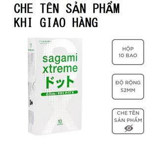 Bao cao su Sagami White bcs siêu mỏng có gai nhiều gel bôi trơn 1 hộp 10c có che tên sản phẩm khi giao hàng - thegioisoi thumbnail