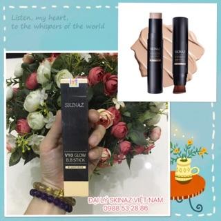 Kem nền kết hợp cọ trang điểm nét mịn dạng thỏi 2 in 1 cao cấp Hàn Quốc chính hãng - V10 Glow B.B Stick Skinaz thumbnail