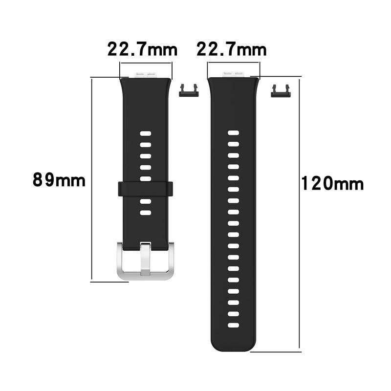 Dây đeo silicone thay thế màu trơn dành cho đồng hồ thông minh Huawei