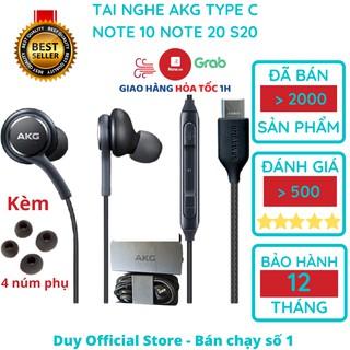 Tai nghe AKG Note 10 Note 20 S20 chân Type C chính hãng Note 10 Plus, S20 plus, S20 Ultra tặng 4 nút tai phụ