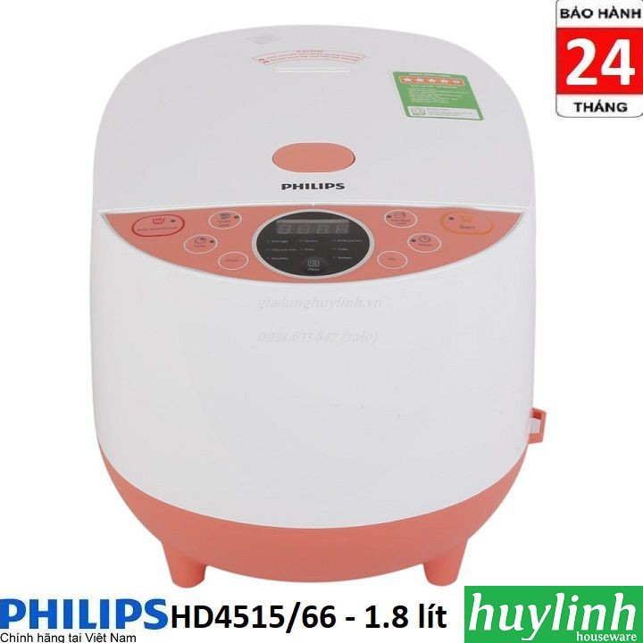 Nồi cơm điện tử Philips HD4515 / 66 - 1.8 lít - Chính hãng BH 2 năm