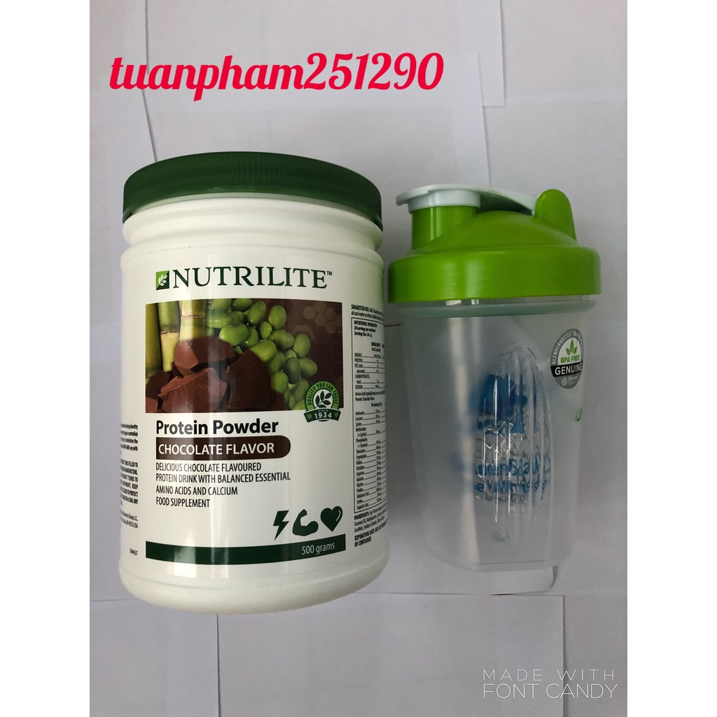 COMBO PROTEIN SOCOLA Nutrilite Amway (500g) + BÌNH LẮC Nutrilite Amway - 2641324 , 1181363807 , 322_1181363807 , 946000 , COMBO-PROTEIN-SOCOLA-Nutrilite-Amway-500g-BINH-LAC-Nutrilite-Amway-322_1181363807 , shopee.vn , COMBO PROTEIN SOCOLA Nutrilite Amway (500g) + BÌNH LẮC Nutrilite Amway