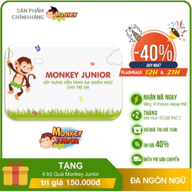 Monkey Junior - Toàn quốc [E-voucher] -Voucher Mã học phần mềm Tiếng Anh (Trọn đời, 2 năm, 1