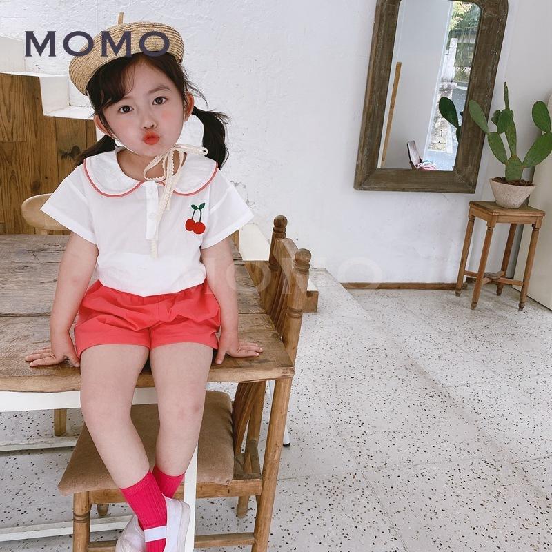 Set Áo Thun Tay Ngắn & Quần Short Thêu Hình Trái Cây Cho Bé Từ 1-8 Tuổi