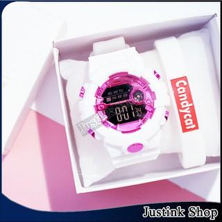 Đồng hồ điện tử thể thao cho nữ màu kẹo Candycat cực kì dễ thương và năng động - JDHS-9033-DHTDT