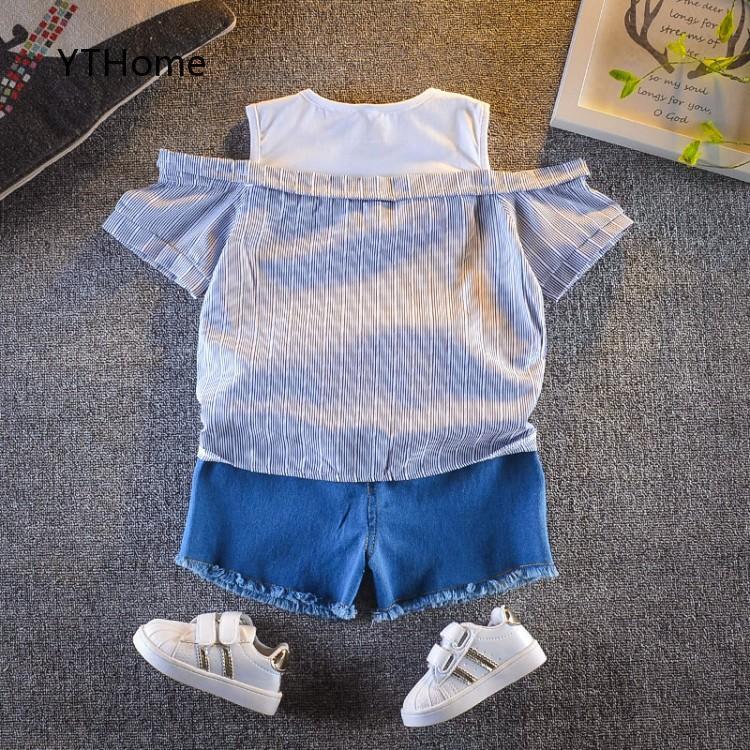 set áo thun tay dài & váy yếm cho bé gái