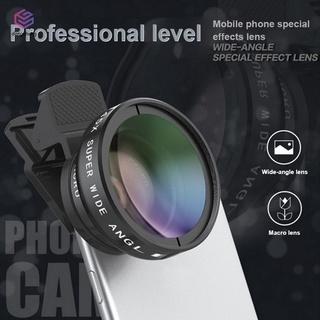 Ống kính Macro góc rộng 2 trong 1 0.45X cho điện thoại + kẹp gắn thumbnail