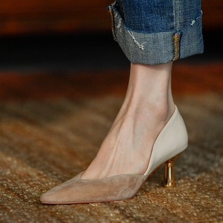 2020 New Only Shoes High Heel Shallow Mouth Female Shoes With Female Shoes Nude Color Autumn Women's Sexy High Heels