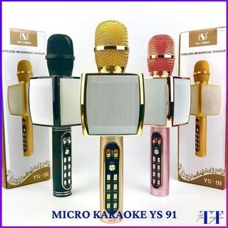 mic hát karaok bật bluetooth hàng loại 1, micro karaok YS-91