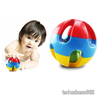 【In stock】 3pcs/set Baby Early Educational Toys Loud Jingle Ball Cartoon Animals Bears Rattles Infant Intelligence Toy