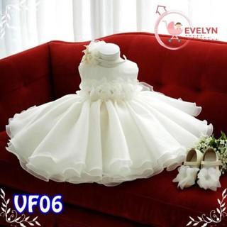 Váy Trẻ Em Công Chúa Evelyn Mã VF06 Thời Trang Cho Bé Gái 0-9 Tuổi Mặc Dự Tiệc Sinh Nhật
