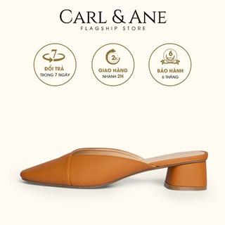 Carl & Ane - Dép cao gót bít mũi kiểu dáng đơn giản cao 4cm màu bò _ CL008
