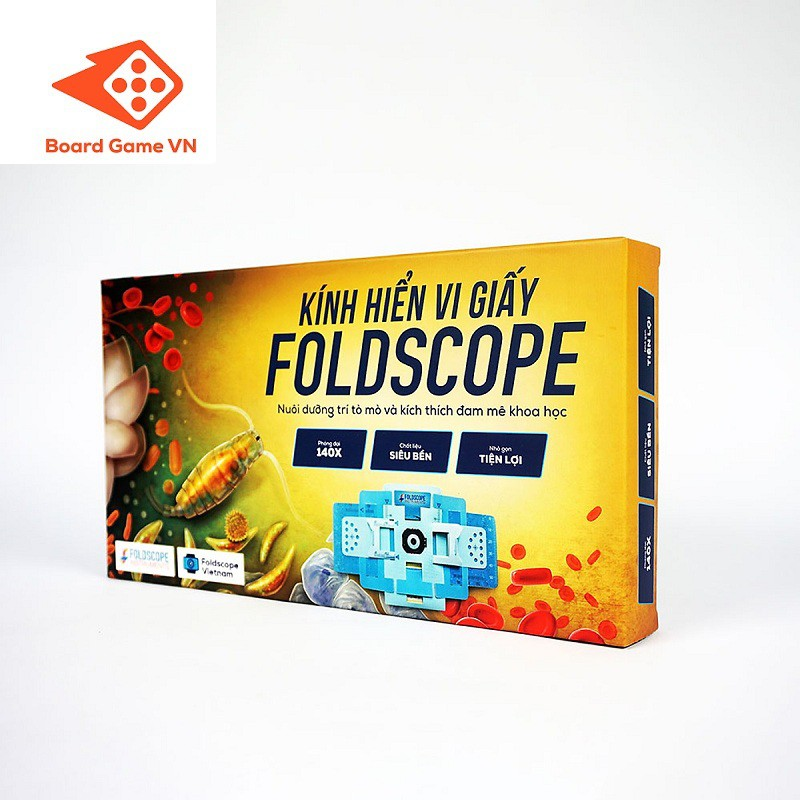 Kính hiển vi bằng giấy Foldscope - khám phá vi thế giới kỳ diệu - Hàng chính