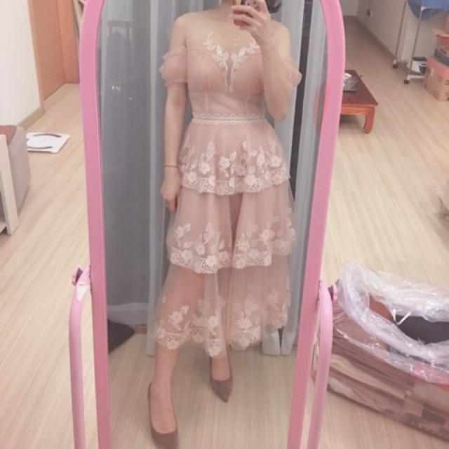 Váy Amy hồng