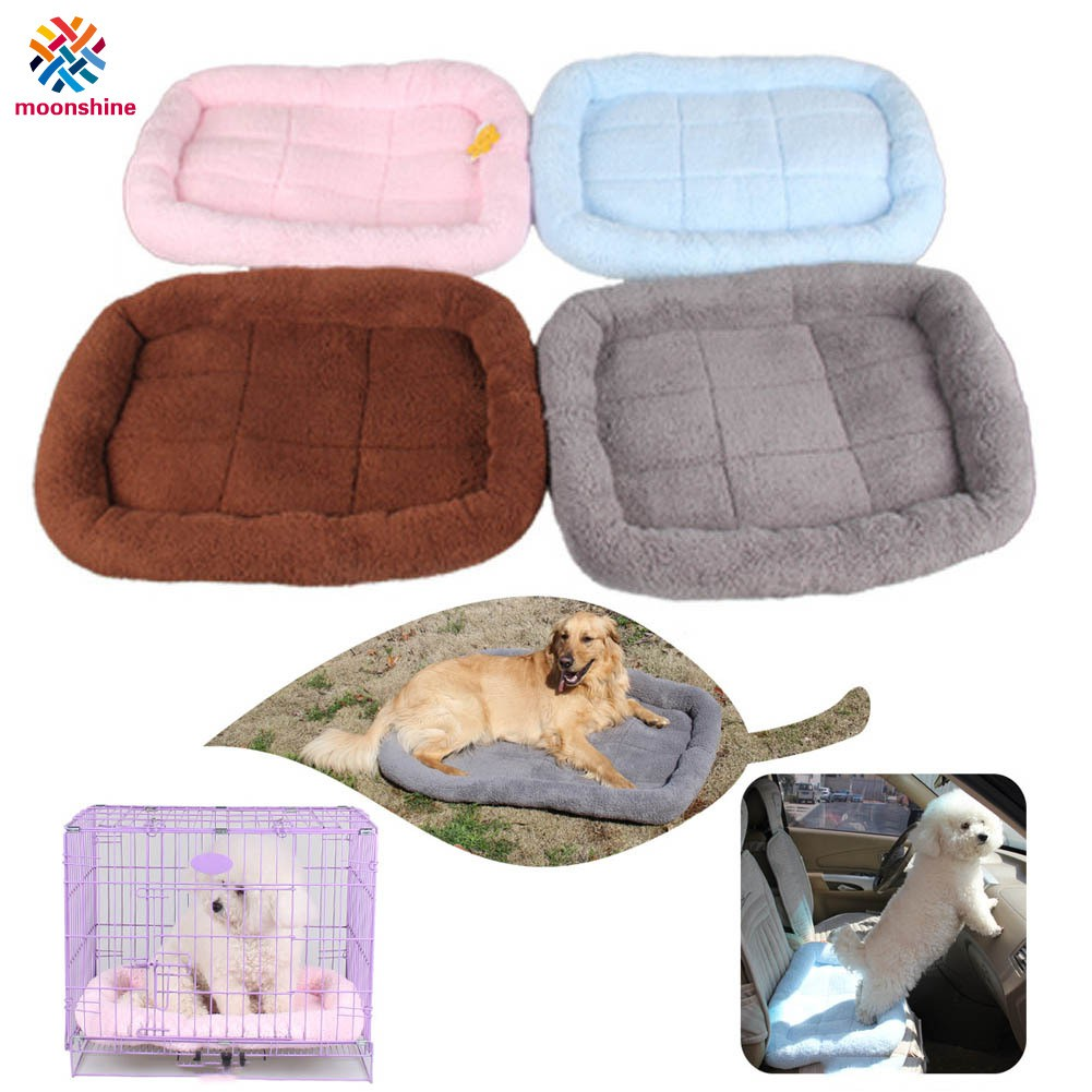 Pet Bed Cushion Mat Dog Cat Kennel Crate Cozy Soft House Car Pad Pets Products