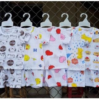 [SỈ LẺ][GIÁ GỐC] Bộ cotton giấy cộc tay cho bé in hình ngộ nghĩnh đáng yêu