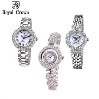 Combo Đồng Hồ Nữ Chính Hãng Royal Crown 5308J dây đá vỏ trắng + 3844SS hoặc 6305SS d thumbnail