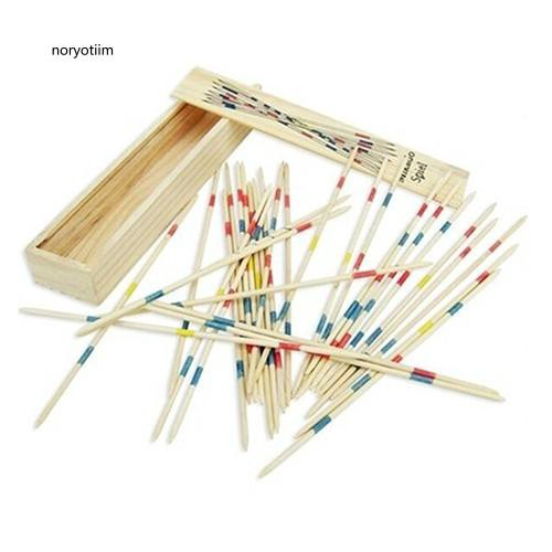 NYTM_Classic Wooden Pick Up Sticks with Box Traditional Game Family Educational Toys