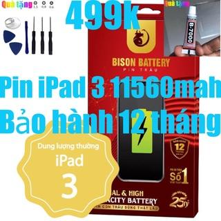 Pin iPads 3, Pin iPads 4 Bison 11560mah, bảo hành 12 tháng thumbnail